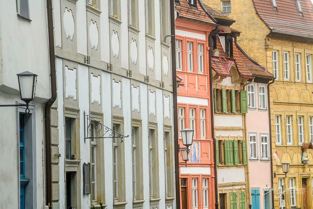 City buildings in the Old Town, Bamberg, Bavaria, Germany