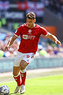 Bristol City's Chris Martin (9) in action during the EFL Sky Bet Championship match between Cardiff City and Bristol City at the Cardiff City Stadium, Cardiff, Wales on 28 August 2021.