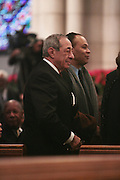 6 January 2010- New York NY- Former Governor of New York, Mario Cuomo at the Percy E. Sutton's Funeral held at The Riverside Church on January 6, 2010 in New York City. Photo Credit: Terrence Jennings/Sipa