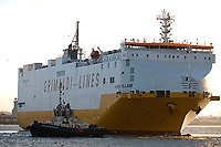 GRANDE ELLADE (Vehicles Carrier) arriving at Southampton  photo By Michael Palmer
