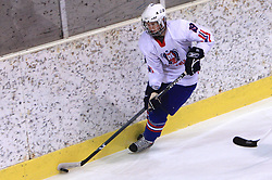 Luka Basic at friendly ice-hockey game between Slovenian National Team U20 and HKMK Bled, before World Championship Division 1, Group A in Herisau, Switzerland, on December 11, 2008, in Bled, Slovenia. (Photo by Vid Ponikvar / Sportida)