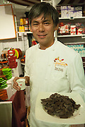 Ken Goto, chocolatier at Jacques Torrres Chocolate, and artisanal chocolae company based in New York.