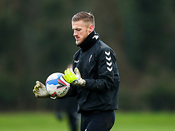 Daniel Bentley of Bristol City during a training session ahead of the FA Cup game with Portsmouth - Rogan/JMP - 07/01/2021 - Failand - Bristol, England.