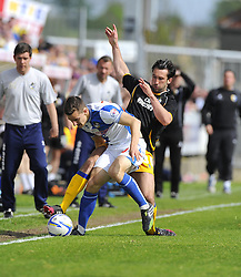 Bristol Rovers' Tom Lockyer battles for the ball - Photo mandatory by-line: Joe Meredith/JMP - Mobile: 07966 386802 03/05/2014 - SPORT - FOOTBALL - Bristol - Memorial Stadium - Bristol Rovers v Mansfield - Sky Bet League Two
