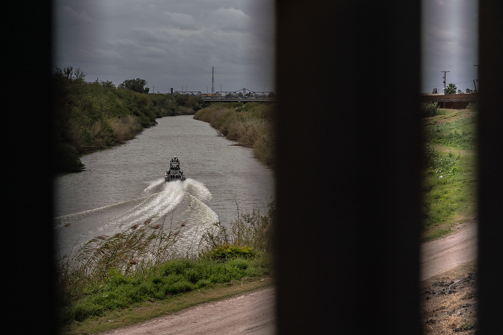 US Border patrol boat heads east on the Rio Grande between Matamoros, Mexico and Brownsville, Texas January 25, 2019. The Trump administration plans to begin sending some asylum seekers back to Mexico to await the resolution of their immigration processing this week, Department of Homeland Security officials said Thursday. Photo by Ken Cedeno/UPI