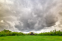 Abandoned farm house on the Canadian Prairies