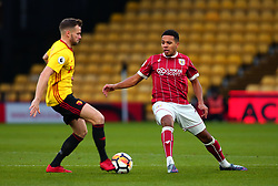 Korey Smith of Bristol City takes on Tom Cleverley of Watford - Mandatory by-line: Robbie Stephenson/JMP - 06/01/2018 - FOOTBALL - Vicarage Road - Watford, England - Watford v Bristol City - Emirates FA Cup third round proper