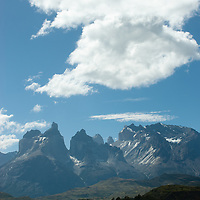 Lake Pehoe and Towers of Paine, Torres del Paine National Park, Chile.