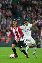 September 15, 2018 - Dani Garcia of Athletic Club and Asensio of Real Madrid in action during the match played in Anoeta Stadium between Athletic Club and Real Madrid CF in Bilbao, Spain, at Sept. 15th 2018. Photo UGS/AFP7 (Credit Image: © AFP7 via ZUMA Wire)