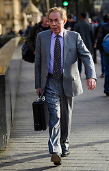 © Licensed to London News Pictures.07/03/2017.London, UK. Conservative peer, LORD WEBBER arrives at Parliament to vote in the Lord's on the third reading of the Brexit bill. .Photo credit: Ben Cawthra/LNP