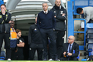 Jose Mourinho, the Manchester United manager looking on from the tunnel entrance before k/o. Premier league match, Chelsea v Manchester Utd at Stamford Bridge in London on Sunday 23rd October 2016.<br /> pic by John Patrick Fletcher, Andrew Orchard sports photography.