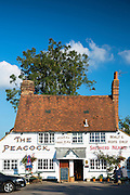 The Peacock Inn a Shepherd Neame Ltd quaint traditional public house at Goudhurst near Hawkhurst in Kent, England, UK