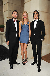 Left to right, ANDREAS SABRIER, ERIN HEATHERTON and VLADIMIR RESTOIN-ROITFELD at a dinner hosted by HRH Prince Robert of Luxembourg in celebration of the 75th anniversary of the acquisition of Chateau Haut-Brion by his great-grandfather Clarence Dillon held at Lancaster House, London on 10th June 2010.