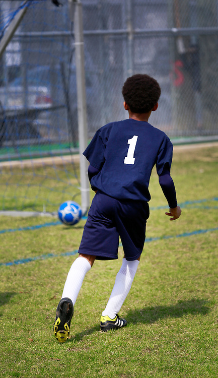 02 March 2013. New Orleans, Louisiana,  USA. .Carrolton Boosters Soccer. Under 8's. The Owls play the Dark Warriors. .Photo; Charlie Varley.