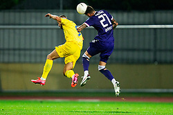 Dario Kolobaric of NK Domzale vs Amir Dervisevic of NK Maribor during football match between NK Domzale and NK Maribor in 2nd Round of Prva liga Telekom Slovenije 2020/21, on August 30, 2020 in Športni park Domzale, Slovenia. Photo by Vid Ponikvar / Sportida
