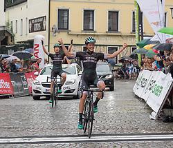 25.06.2017, Grein an der Donau, AUT, Rad Strassen Staatsmeisterschaft Elite Herren, 2017, Grein an der Donau, Oberösterreich im Bild Gregor Mühlberger (AUT, Bora - Hansgrohe) gewinnt vor Lukas Pöstlberger (AUT, Bora - Hansgrohe) // during cycling road championship, Grein an der Donau, Oberöstereich at 2017/06/25. EXPA Pictures © 2017, PhotoCredit: EXPA/ R. Eisenbauer
