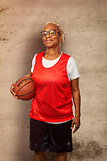 Baby Boomer Woman Basketball Player African American.
