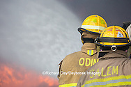 63818-02615 Firefighters at oilfield tank training, Marion Co., IL