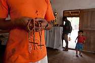 In Santa Ana de Velasco they  built rosaries as old Jesuits style