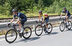 08.07.2017, Wels, AUT, Ö-Tour, Österreich Radrundfahrt 2017, 6. Etappe von St. Johann/Alpendorf nach Wels (203,9 km), im Bild v.l. Andrew Fenn (GBR, Team Aqua Blue Sport), Stefan Denifl (AUT, Team Aqua Blue Sport) im gelben Trikot, // f.l. Andrew Fenn of Great Britain (Team Aqua Blue Sport) Stefan Denifl of Austria (Aqua Blue Sport) in the yellow jersey during the 6th stage from St. Johann/Alpendorf to Wels (203,9 km) of 2017 Tour of Austria. Wels, Austria on 2017/07/08. EXPA Pictures © 2017, PhotoCredit: EXPA/ Reinhard Eisenbauer