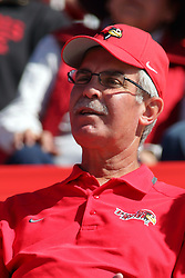 08 October 2016:  Ron Krueger.  NCAA FCS Missouri Valley Football Conference Football game between Youngstown State Penguins and Illinois State Redbirds at Hancock Stadium in Normal IL (Photo by Alan Look)