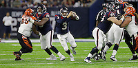 Houston Texans quarterback Tom Savage (3) scrambles out of the pocket against the Cincinnati Bengals during the second half of an NFL football game Saturday, Dec. 24, 2016, in Houston. (AP Photo/Sam Craft)