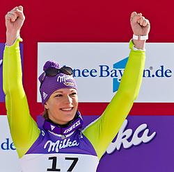08-02-2011 SKIEN: FIS ALPINE WORLD CHAMPIONSSHIP: GARMISCH PARTENKIRCHEN<br /> Maria RIESCH (GER) third Place during Women Super G, Fis Alpine Ski World Championships in Garmisch Partenkirchen, Germany<br /> **NETHERLANDS ONLY**<br /> ©2011-WWW.FOTOHOOGENDOORN.NL/NPH-J. Feichter