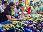 06 JUNE 2015 - KUALA LUMPUR, MALAYSIA: Grocery shopping on Jalan Tun Sambanthan in the Little India section of Kuala Lumpur.      PHOTO BY JACK KURTZ