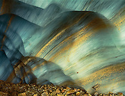 Striated wall of an ice cave, Jasper National Park, Alberta, Canada