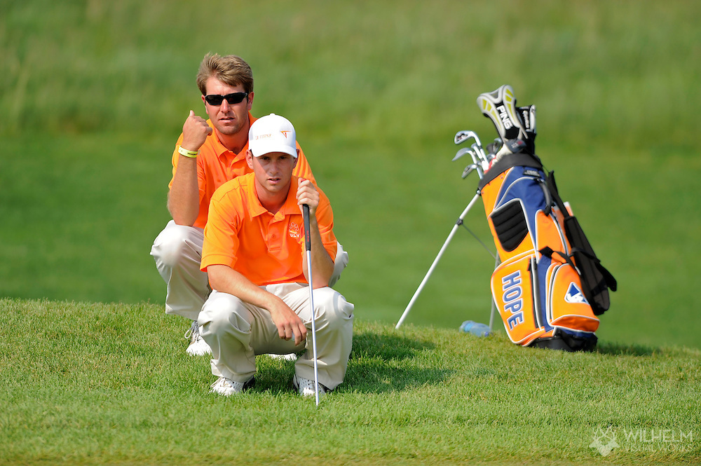 14 MAY 2010: Mitchell Fedorka of the University of La Verne  during the Division III Men's Golf Championship held at Hershey Links in Hershey, PA. Methodist University placed first to win the national team title.  © Brett Wilhelm
