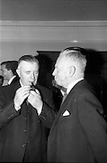 22/06/1965<br /> 06/22/1965<br /> 22 June 1965<br /> Launching new bulk guar delivery service By the Irish Sugar Co. at McGrath Brothers, Dublin. Picture shows Lieutenant General Michael Costello, General Manager of Irish Sugar Co. and Mr. Percy McGrath, Director, McGrath Bros.