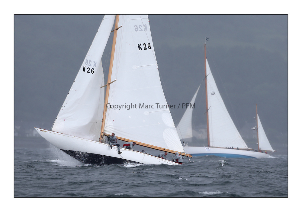 Day two of the Fife Regatta,Passage race to Rothesay.<br /> Saskia, 13, Murdoch McKillop, GBR, Bermudan Sloop, Wm Fife 3rd, 1931Latifa, 8, Mario Pirri, ITA, Bermudan Yawl, Wm Fife 3rd, 1936<br /> <br /> * The William Fife designed Yachts return to the birthplace of these historic yachts, the Scotland's pre-eminent yacht designer and builder for the 4th Fife Regatta on the Clyde 28th June–5th July 2013<br /> <br /> More information is available on the website: www.fiferegatta.com