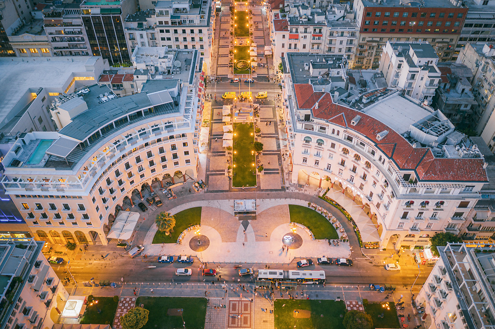 Aristotelous Square in Thessaloniki, Greece