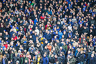 Where's Wally? Oldham Athletic fans during The FA Cup 3rd round match between Fulham and Oldham Athletic at Craven Cottage, London, England on 6 January 2019.