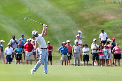 August 9, 2018 - St. Louis, Missouri, United States - Justin Thomas hits a fairway shot during the first round of the 100th PGA Championship at Bellerive Country Club. (Credit Image: © Debby Wong via ZUMA Wire)