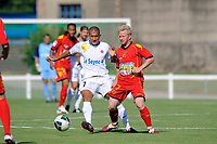 FOOTBALL - FRIENDLY GAMES 2010/2011 - BERRICHONNE CHATEAUROUX v LE MANS UC - 10/07/2010 - JEAN MARIE HERVIO / DPPI - AHMED KASHI (CHA) / FREDRIK STROMSTAD (MANS)