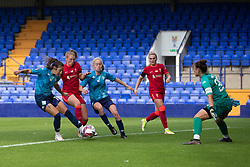 BIRKENHEAD, ENGLAND - Sunday, August 29, 2021: Liverpool's Rianna Dean misses a chance to score during the FA Women's Championship game between Liverpool FC Women and London City Lionesses FC at Prenton Park. London City won 1-0. (Pic by Paul Currie/Propaganda)