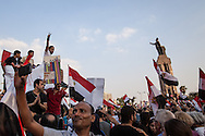 Anti government demonstrations continune after first year of president Morsi's election, calling for his resignation. Cairo, Egypt.