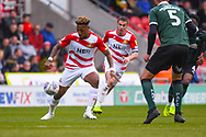 Mallik Wilks of Doncaster Rovers (7) in action during the EFL Sky Bet League 1 match between Doncaster Rovers and Plymouth Argyle at the Keepmoat Stadium, Doncaster, England on 13 April 2019.