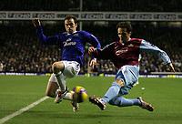 Photo: Paul Thomas.<br /> Everton v West Ham United. The Barclays Premiership. 03/12/2006.<br /> <br /> James McFadden (L) of Everton, Matthew Etherington of West Ham.