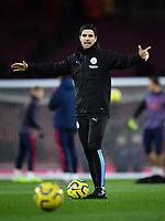 Football - 2019 / 2020 Premier League - Arsenal vs. Manchester City<br /> <br /> Manchester City assistant coach Mikel Arteta during the pre-match warm-up, at The Emirates.<br /> <br /> COLORSPORT/ASHLEY WESTERN