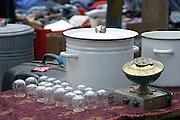 Israel, Jaffa the old flea market fire cups