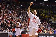 DESCRIZIONE : Milano ,EA7 EMPORIO ARMANI OLIMPIA MILANO - MACCABI ELECTRA TEL-AVIV <br /> Euroleague Playoffs - Game 2<br /> GIOCATORE : David Moss<br /> CATEGORIA : ESULTANZE<br /> SQUADRA : EA7 EMPORIO ARMANI OLIMPIA MILANO<br /> EVENTO : Campionato Euroleague Playoffs<br /> GARA : EA7 EMPORIO ARMANI OLIMPIA MILANO - MACCABI ELECTRA TEL-AVIV <br /> Euroleague Playoffs - Game 2 <br /> DATA : 18/04/14 <br /> SPORT : Pallacanestro <br /> AUTORE : Agenzia Ciamillo-Castoria/Luca Sonzogni <br /> Galleria : Euroleague Playoffs