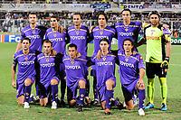 """Fiorentina Team<br /> Up: Alessandro GAMBERINI, Adrian MUTU, Alberto GILARDINO, Manuel VARGAS, Dario DAINELLI, Sebastien FREY<br /> Bottom: Massimo GOBBI, Cristiano ZANETTI, Marco MARCHIONNI, Riccardo MONTOLIVO, Gianluca COMOTTO<br /> Firenze 26/8/2009 Stadio """"Artemio Franchi""""<br /> Champions League Play-offs Leg 2<br /> Fiorentina Sporting Lisbona 1-1 <br /> Photo Andrea Staccioli Insidefoto"""