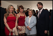 VICTORIA COREN; KATHY LETTE; SANDI TOKSVIG; DAVID MITCHELL, Sandi  and Debbie Toksvig,  renewing their civil partnership vows at the Royal Festival Hall. London. 29 March 2014.
