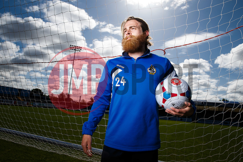 Stuart Sinclair of Bristol Rovers poses during a media session before Sundays Vanamara Conference Play Off Final match against Grimsby Town at Wembley Stadium for promotion to the Football League 2 - Photo mandatory by-line: Rogan Thomson/JMP - 07966 386802 - 12/05/2015 - SPORT - FOOTBALL - Bristol, England - Memorial Stadium - Bristol Rovers Play Off Final Previews - Vanarama Conference Premier.