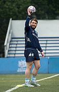 Hooker VIRGILE LACOMBE of French rugby union team, Racing 92 from Paris, during training in Hong Kong. They are preparing ahead of their upcoming match against New Zealand's Super League team, The Highlanders