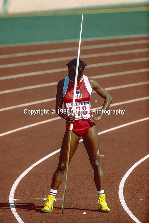 Jackie Joyner Kersee (USA) competing at the 1988 Olympic Summer Games.