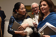 PORA YUKI ROTHERMERE; THE DOWAGER COUNTESS ROTHERMERE; TERRY NEW; CURATOR: DIANA SHIACH;  New Work: William Foyle, Royal College of art. Kensington Gore, London.  1 December 2015