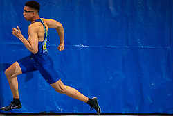 Onyema Adigida win the 200 meter during the Dutch Indoor Athletics Championship on February 23, 2020 in Omnisport De Voorwaarts, Apeldoorn